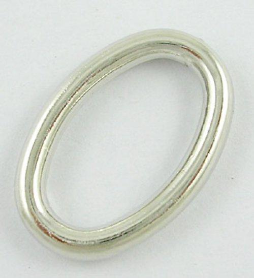 Akrylový ovál, stříbrně pokovený, 3ks