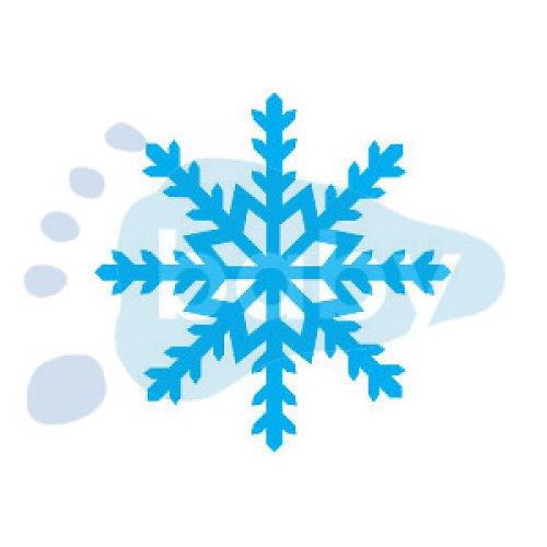 Razítko sněhová vločka 12 5 x 5