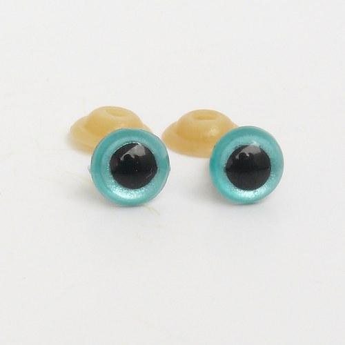 Bezpečnostní oči - modré, tyrkysové 12 mm