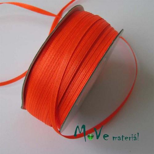 Stuha atlasová jednolící 3mm, 1m, oranžová