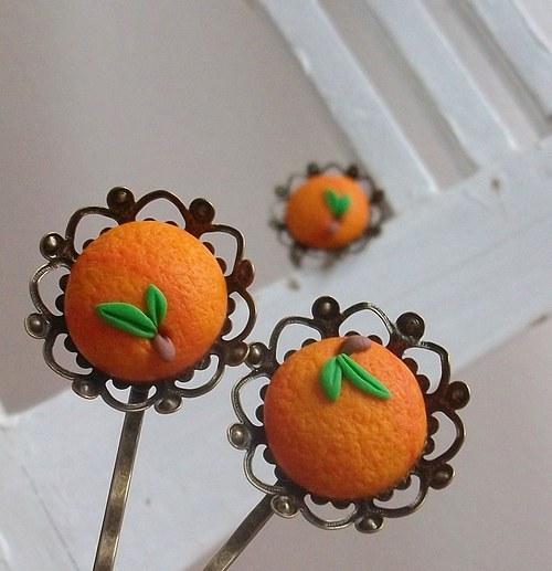 Dívka s pomeranči...sada