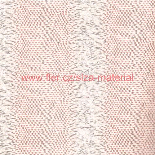 Papír hadí kůže bíločervený SP01