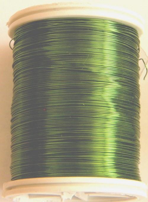 Měděný lakovaný drát 0,8 mm pistáciový
