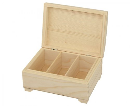Dřevěný kufřík se 3 přihr. DL149