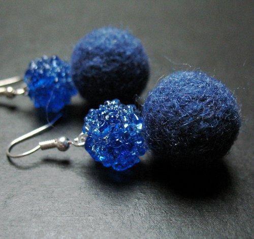 Plyšky s vinutkou modré