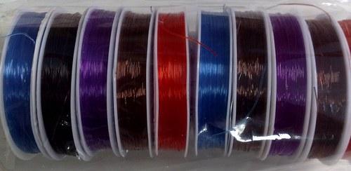 Silikonový vlasec pružný 0,6 mm hnědý