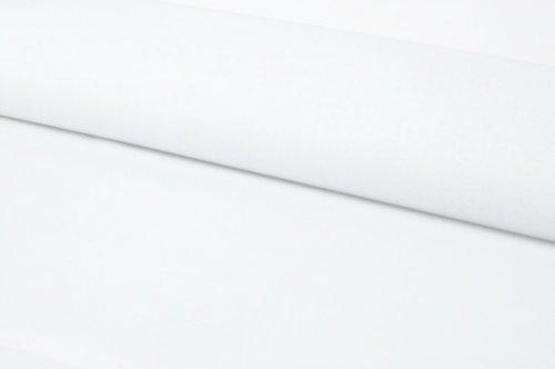 Látka BAVLNA jednobarevná BÍLÁ ATEST DĚTI á 0,5m
