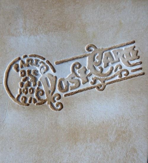 Embossovaný polotovar  - pošta