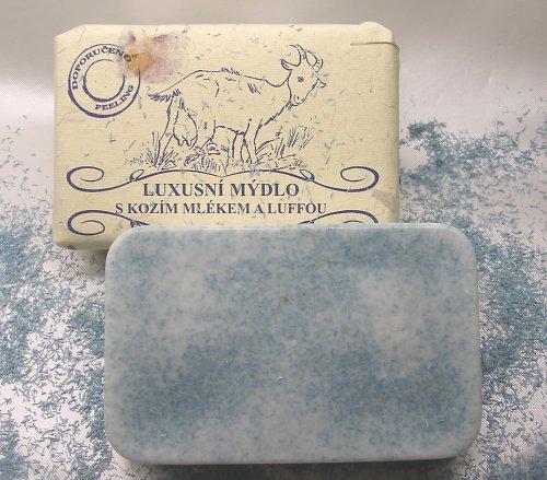 Luxusní mýdlo s kozím mlékem a luffou   200 g