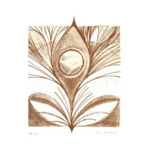 Originál litografie - Přírodou
