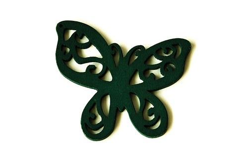 dřevění motýlci- tmavě zelení
