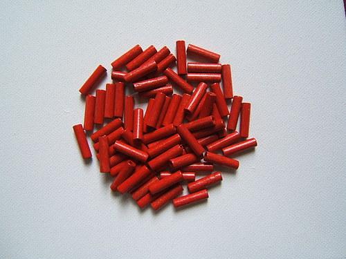 Dřevěné korálky 5x16 mm 100ks