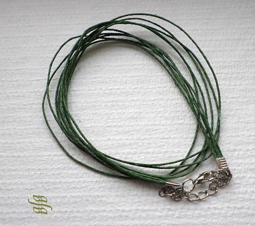 Šňůrka tmavě zelená - 1ks