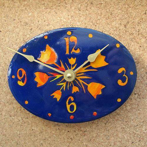 Smaltované hodiny 95