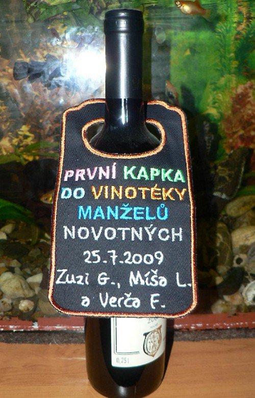 Visačka na lahev- 1. kapka