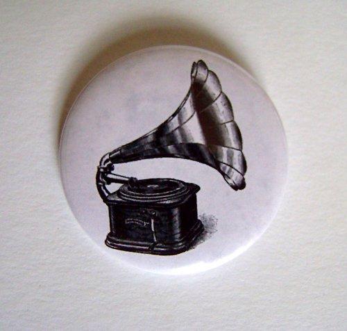 Ó GRAMOFÓN - placka - button - 44 mm