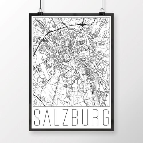 SALZBURG, 50x70cm, moderní, bílý