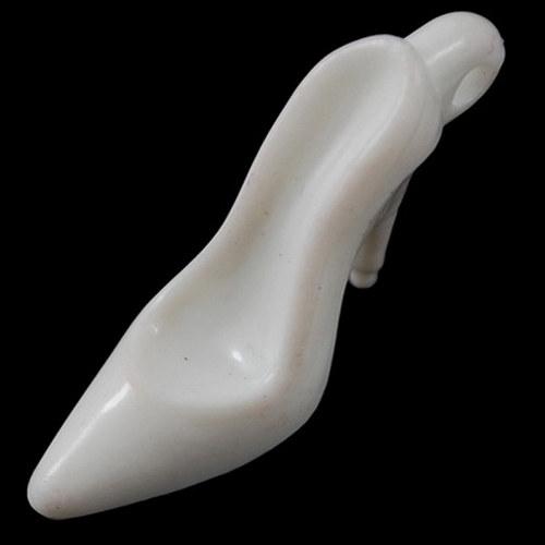 Přívěsek lodičky neprůhl/ bílá/ 35x15mm/ 2ks