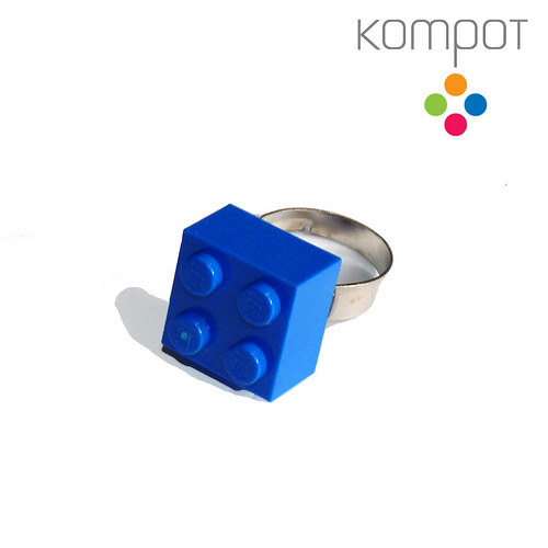 LEGO PRSTEN :: tmavě modrý