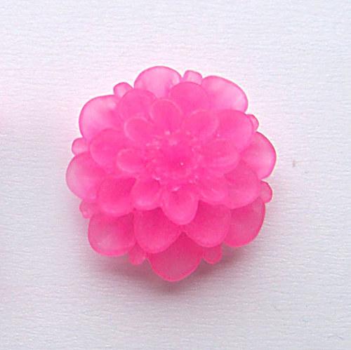 květinka / zamrzlá/ 20mm/ růžová tmavě/ 2ks