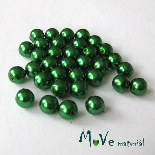 České voskové perle zelené 6mm/34ks (cca 10g)