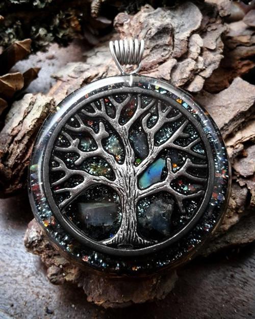 Orgonitový šperk se Stromem Života a Labradoritem