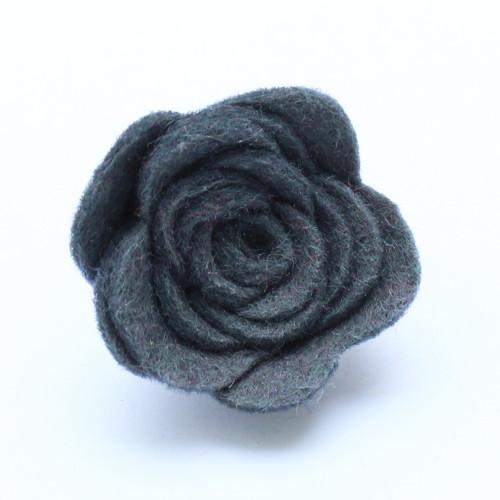 Ozdoba do klopy - tmavě šedá květina