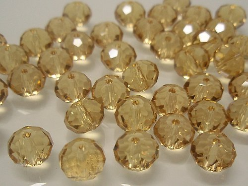 22770 Swarovski rondelka 8mm 5040 tm.žlutá, á 5ks