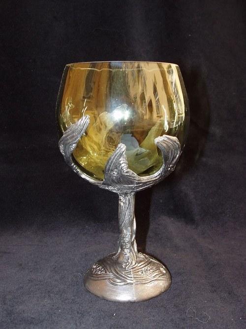 sklenice na víno - fantasy motiv