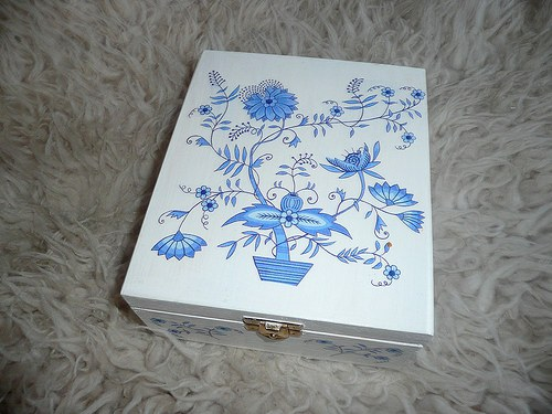 Krabička na čaj - 4 přihrádky - cibulák