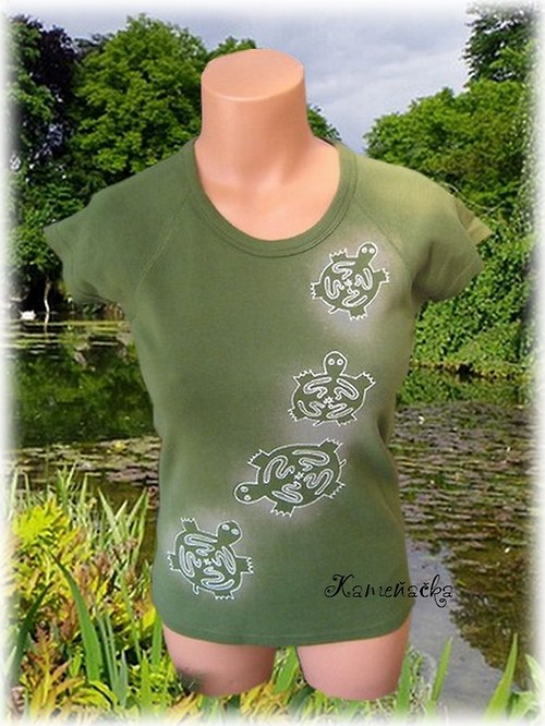 dámské tričko-želvy