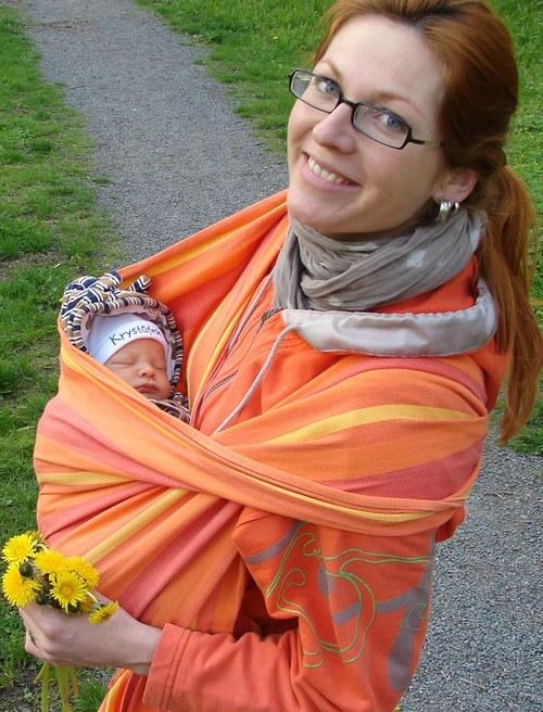 Šátek na nošení miminek ŠaNaMi - vz.Orange 5m
