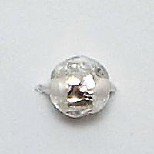 Kulička stříbrná folie 8mm bílá