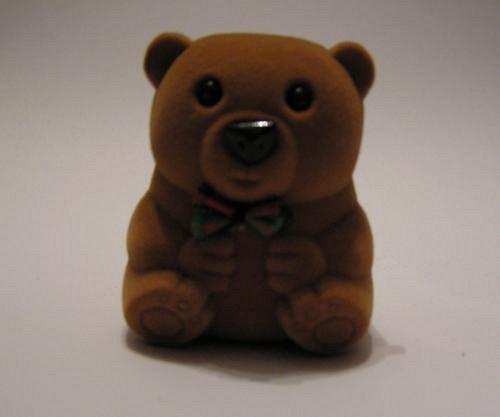 Sametová krabička na šperky - medvídek hnědý