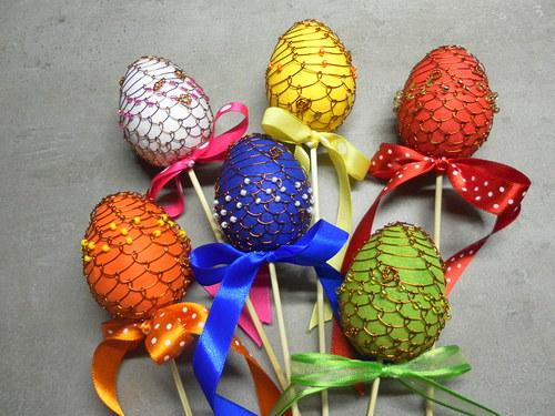 Velikonoční vajíčko drátkované
