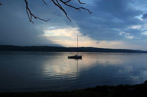 Podvečer u řeky Hudson
