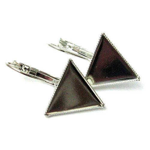 Visací naušnice - trojuhelník - pár
