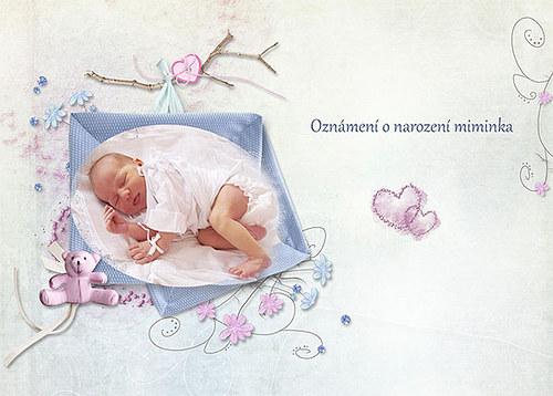 Oznámení o narození miminka