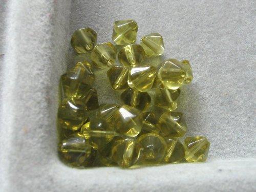 Sluníčka - olivová 6 mm / 10 ks