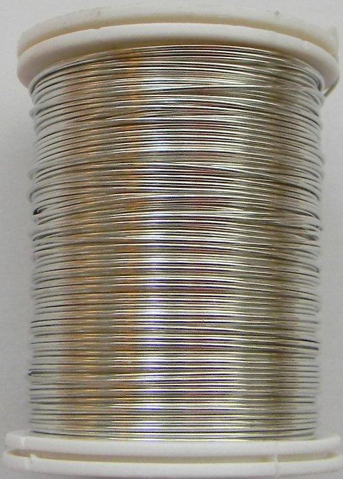 Měděný lakovaný drát 0,8 mm stříbrný