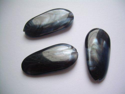 Černo-bílý korálek -  2 ks