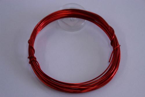 Měděný drátek 1mm - červený, návin 3,8-4m