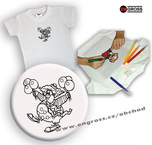 Omalovánkové tričko Klaun 3