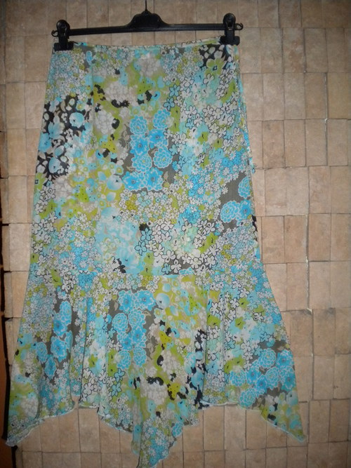 Letní sukně s délkou do cípů