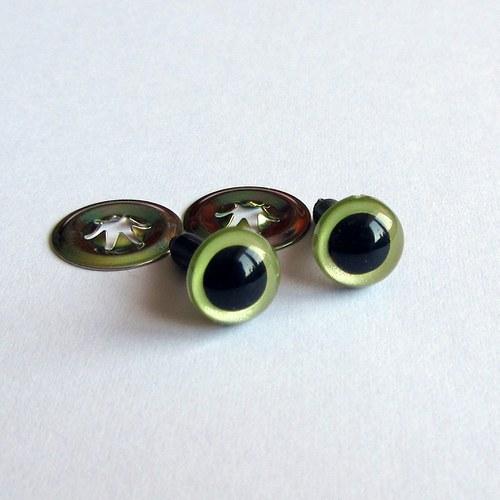 Bezpečnostní oči - zelené perleť. 9 mm