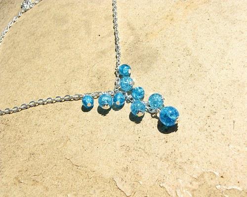 Aqua T-náhrdelník