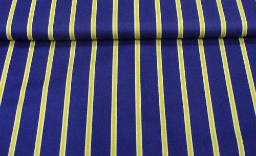 Modro-žltý prúžok - 100% bavlna