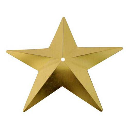 Flitry - zlatá hvězda s dírkou (329-196)       3 g