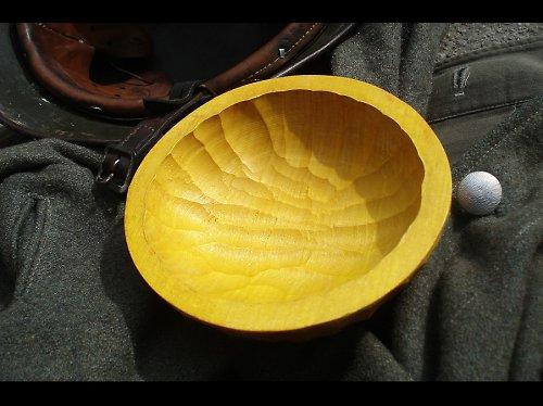 Dřevěná miska-žluť