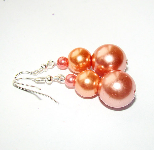 náušnice meruňkové perličky